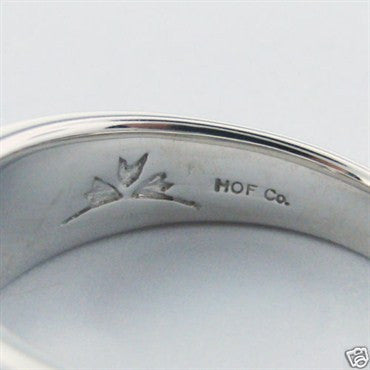 thumbnail image of New Hearts on Fire 18k Gold 0.48ct Diamond Enamel Band Ring