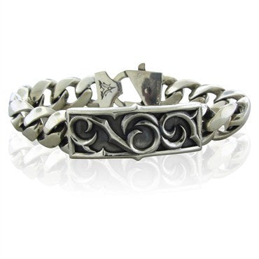 image of Estate Stephen Webster Sterling Silver Mens Bracelet