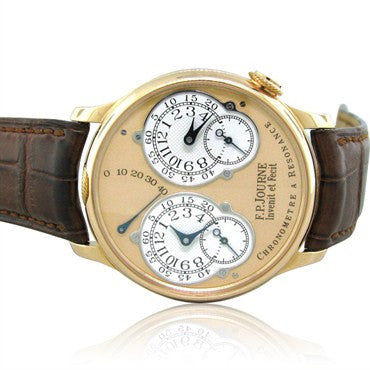 image of FP Journe Chronometre Resonance Two Time Zones Rose Gold Mens Watch