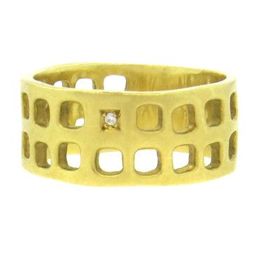 image of H Stern 18k Gold Diamond Band Ring