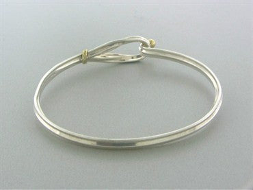 thumbnail image of Estate Tiffany & Co Sterling Silver 18K Gold Bracelet