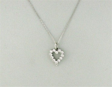 image of Temple St. Clair Platinum Diamond Heart Pendant Necklace