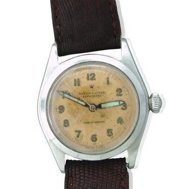 image of 1940s Rolex Speedking Chronometer Watch Ref 4220