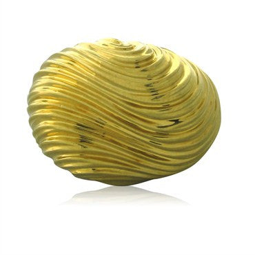 image of Estate Henry Dunay 18K Yellow Gold Wave Ring