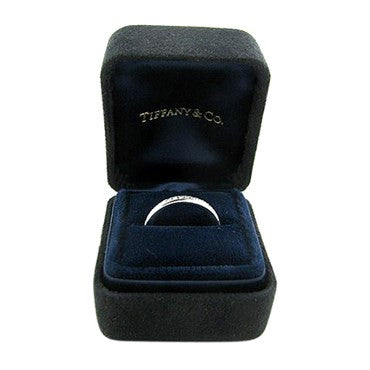 thumbnail image of Tiffany & Co Platinum Diamond 2mm Wedding Band Ring