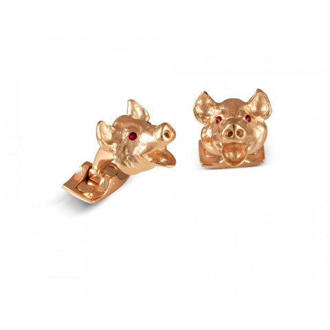 image of Deakin & Francis Pig Head Cufflinks