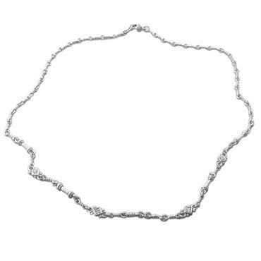 image of Judith Ripka 18K White Gold Diamond Necklace