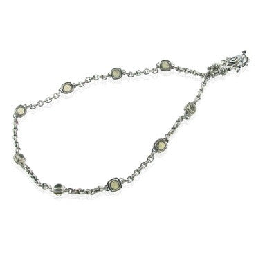image of Estate Scott Kay Sterling Champagne Quartz Necklace