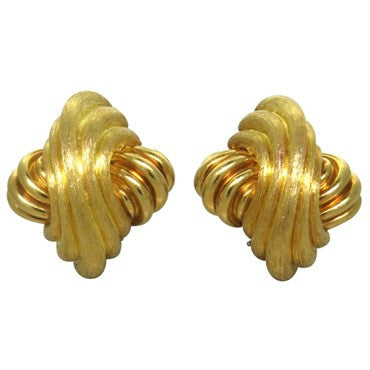 thumbnail image of Henry Dunay Large 18k Gold Earrings
