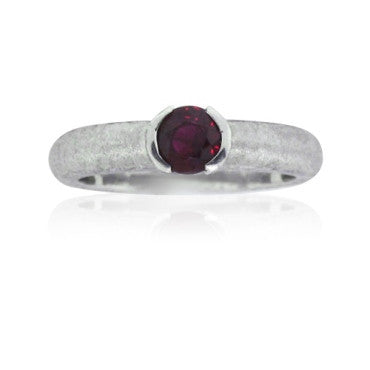 image of EGL Certified Knox Platinum Ruby Solitaire Ring