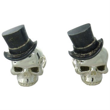 thumbnail image of Deakin & Francis Sterling SIlver Tophat Skull Cufflinks