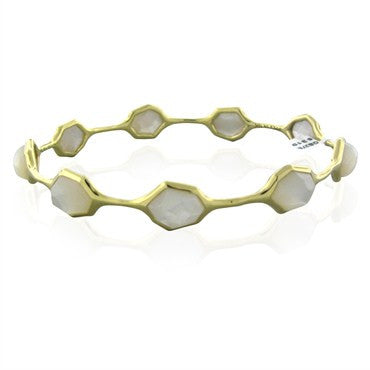 image of New Ippolita 18K Gold Modern Rock Candy Mother Of Pearl Bracelet