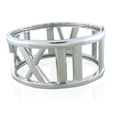 image of Tiffany & Co Atlas Collection 18K White Gold Bangle Bracelet