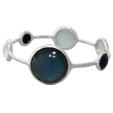 image of New Ippolita Sterling Silver Wonderland Lollipop Bangle Bracelet