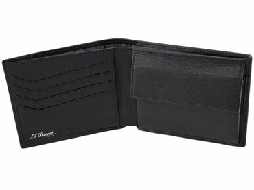 thumbnail image of ST Dupont Black Leather Defi Wallet 086604