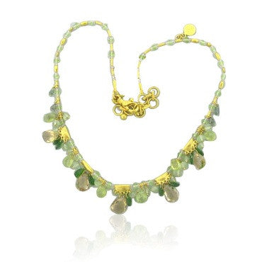 thumbnail image of New Gurhan 24k Gold Multi Gemstone Necklace