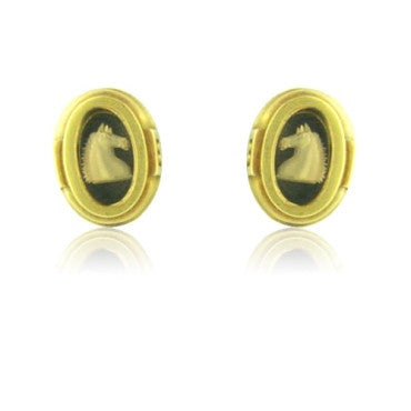 image of Kieselstein Cord 18k Gold Intaglio Earrings