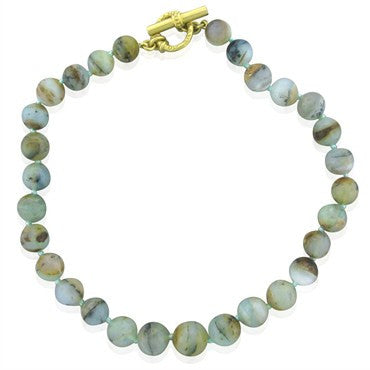 image of Slane & Slane 18K Yellow Gold Agate Bead Necklace