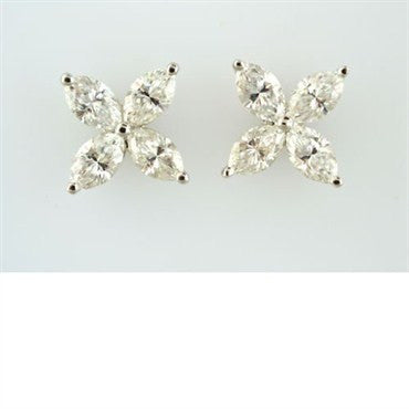 image of Tiffany & Co Victoria Platinum 2.00ct Diamond Earrings