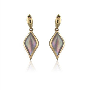 image of Kabana 14K Rose Gold Mother Of Pearl Drop Earrings