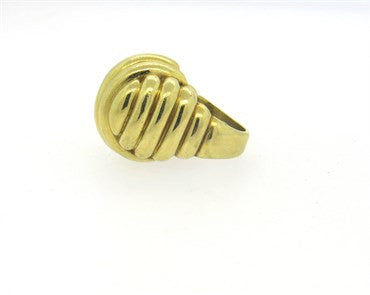 thumbnail image of Bold Large Tambetti 18k Gold Dome Ring