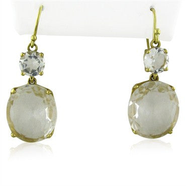 image of Ippolita 18K Yellow Gold Quartz Drop Earrings