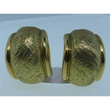 thumbnail image of Estate Tiffany & Co Vintage 18K Gold Earrings