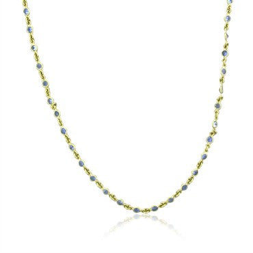 image of Temple St. Clair 18K Gold Sapphire Classic Chain Necklace