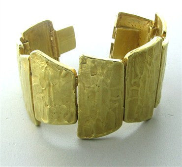 thumbnail image of Estate Ed Wiener 18K Yellow Gold Textured Bracelet