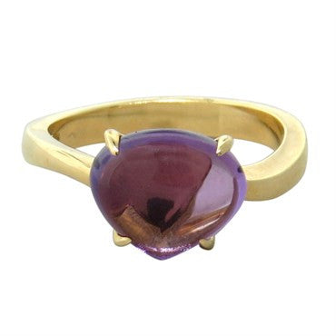 image of Bvlgari Bulgari Sassi 18k Gold Amethyst Ring
