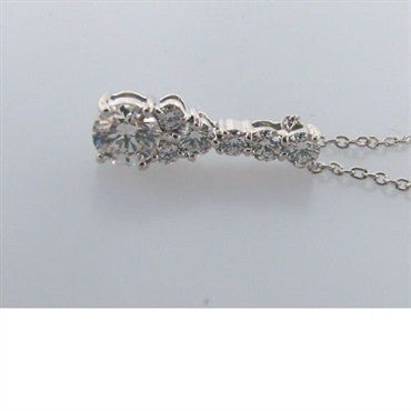 thumbnail image of Hearts On Fire Triplicity Cluster Drop Diamond Necklace