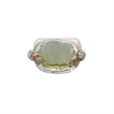 thumbnail image of Pomellato Pin Up 18k Gold Diamond White Topaz Ring
