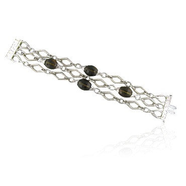 image of Krypell Sterling 14k Gold Cognac Quartz Bracelet