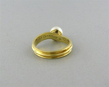 thumbnail image of Estate Tiffany & Co 18K Yellow Gold Pearl Ring