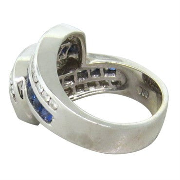 thumbnail image of Charles Krypell 18k Gold Diamond Sapphire Ring