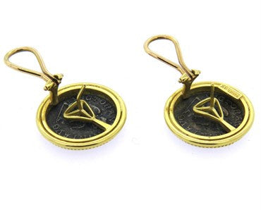 thumbnail image of Ancient Coin 18k Gold Earrings