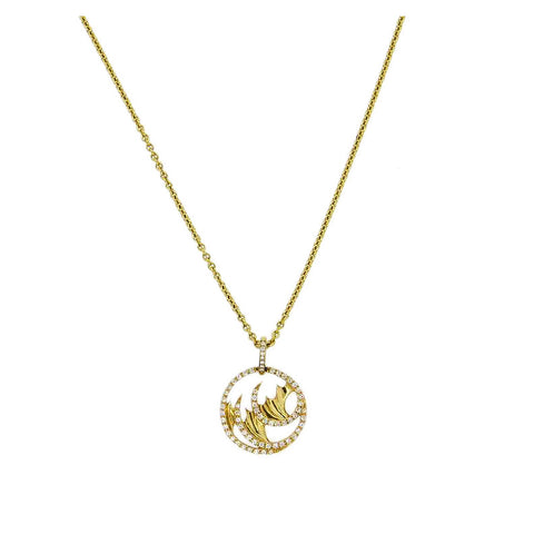 Stephen Webster 18k Gold Diamond Pendant Necklace