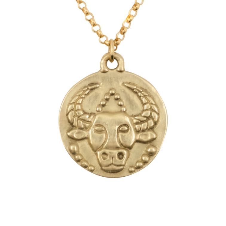 thumbnail image of Susan Highsmith 18k Gold Taurus Zodiac Pendant Necklace