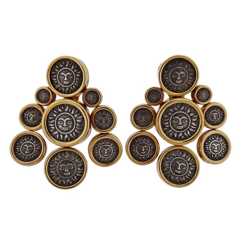 image of Marina B Sun Coin Gold Earrings