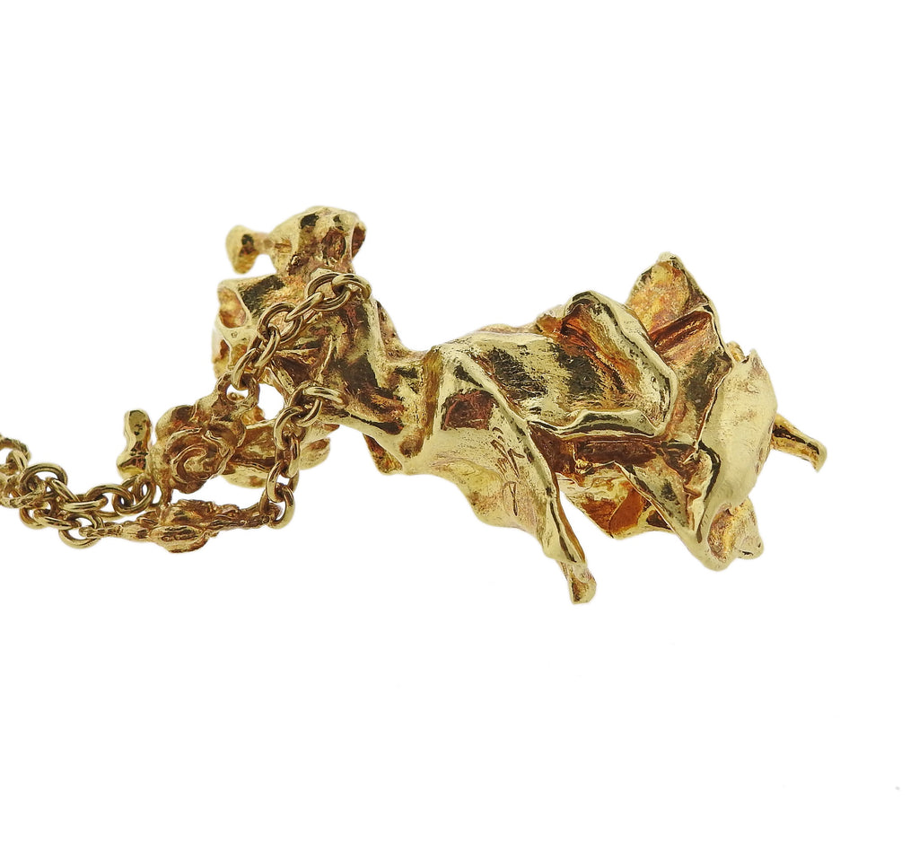 thumbnail image of Salvador Dali Gold Carmen La Clotalos Necklace