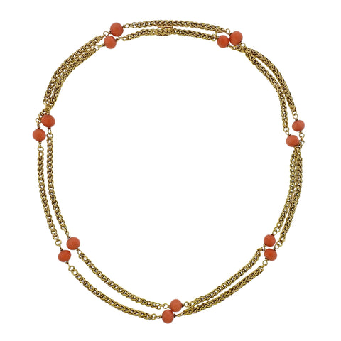 image of Tiffany & Co Coral Station Gold Necklace