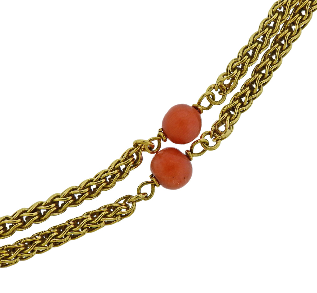 thumbnail image of Tiffany & Co Coral Station Gold Necklace