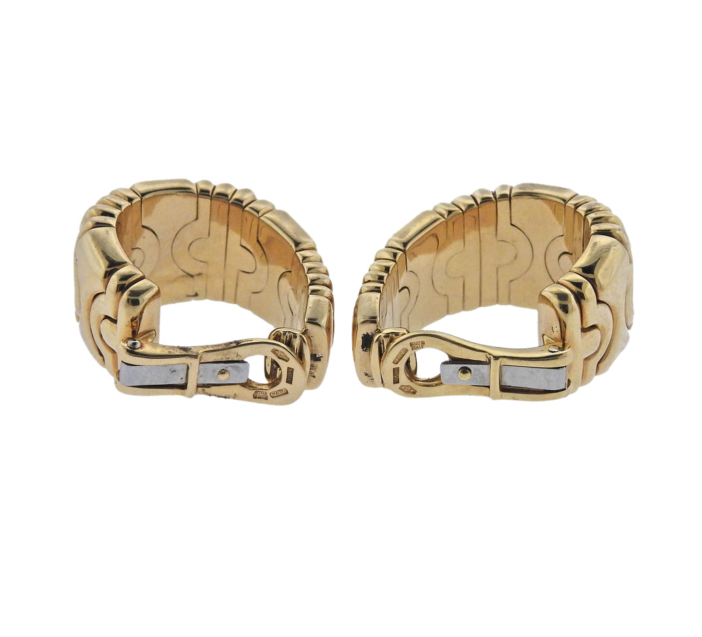 thumbnail image of Bulgari Parentesi Gold Hoop Earrings