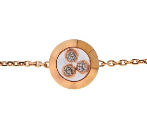 image of Chopard Happy Curves Rose Gold Diamond Round Bracelet 859562-5001