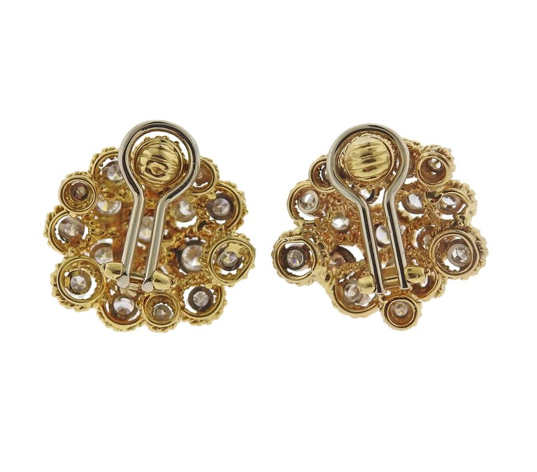 thumbnail image of 1970s Cartier Diamond Gold Earrings