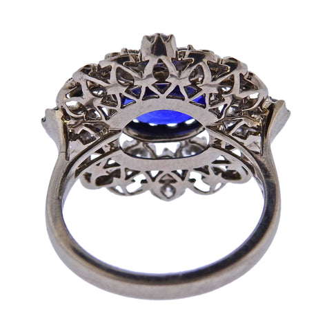 image of Kwiat 2 Carat Sapphire Diamond Gold Ring