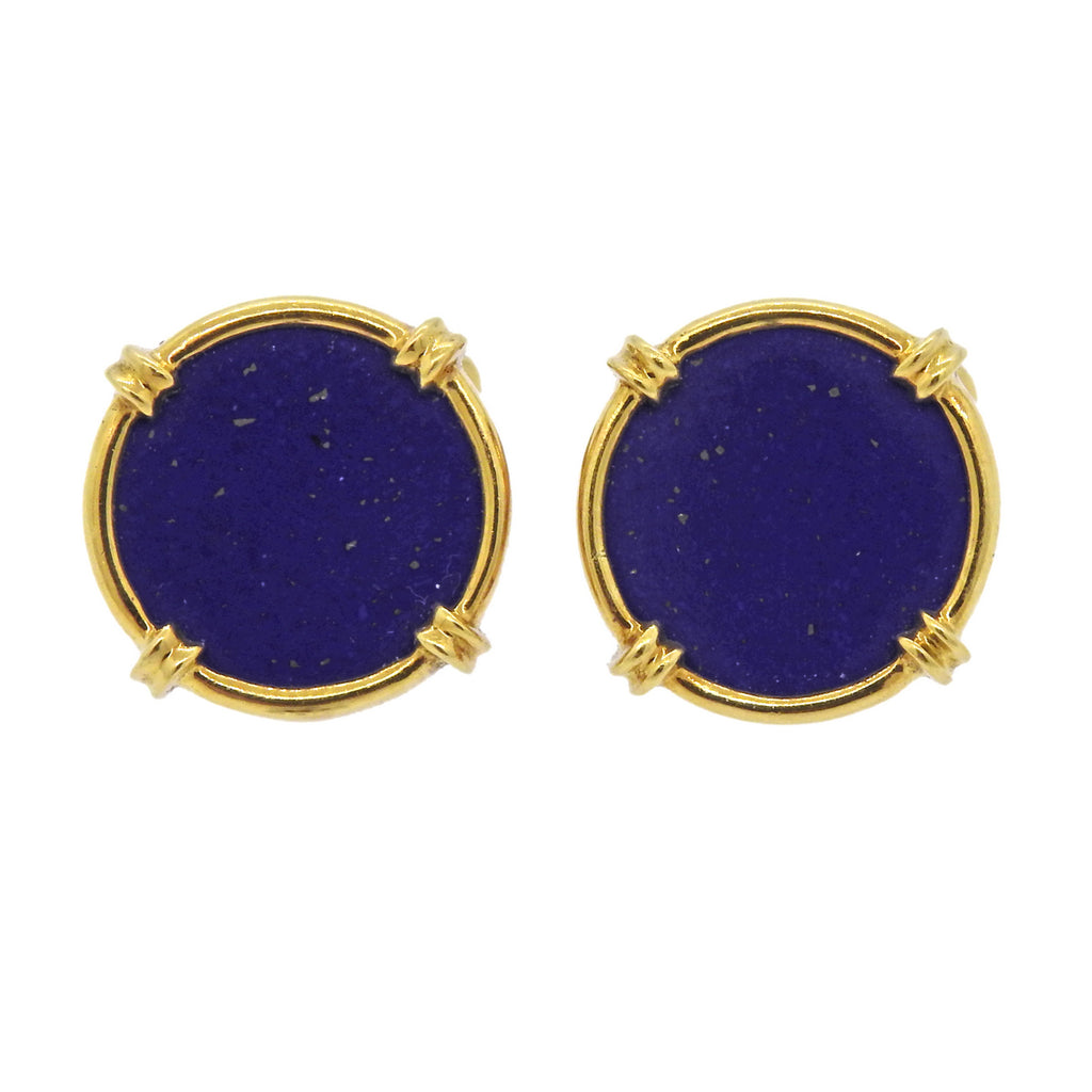 thumbnail image of 18k Gold Lapis Cufflinks