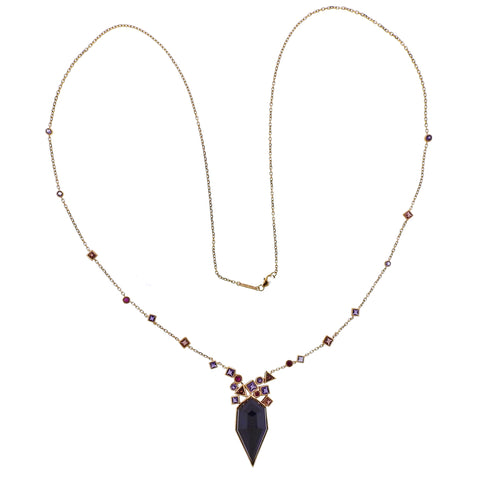 image of Stephen Webster Gold Struck Amethyst Garnet Ruby Necklace