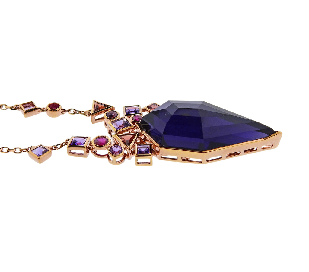 thumbnail image of Stephen Webster Gold Struck Amethyst Garnet Ruby Necklace