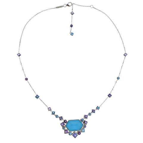 image of Stephen Webster Gold Struck Turquoise Tanzanite Amethyst Necklace